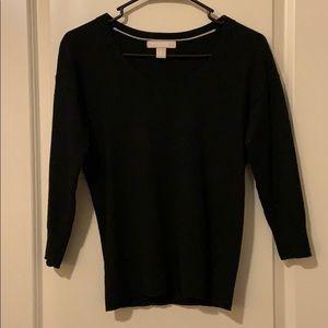 Extra fine merino wool black sweater